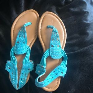 Sandals- Cute Blue with stones